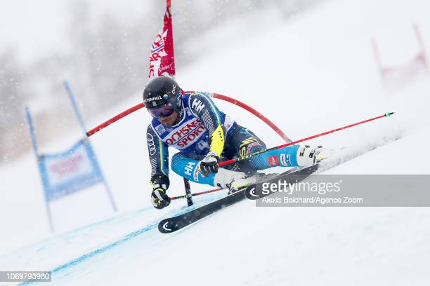Matts Olsson of Sweden competes during the Audi FIS Alpine Ski World Cup Men's Giant Slalom on December 8, 2018 in Val d'Isère France.