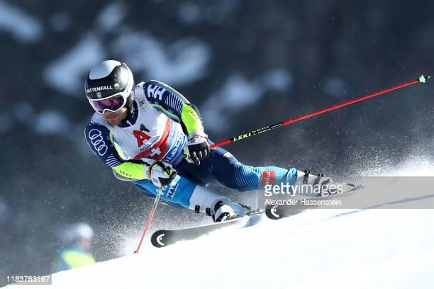 Matts Olsson of Sweden competes during the Audi FIS Alpine Ski World Cup Men's Giant Slalom at Rettenbachferner on October 27 2019 in Soelden Austria