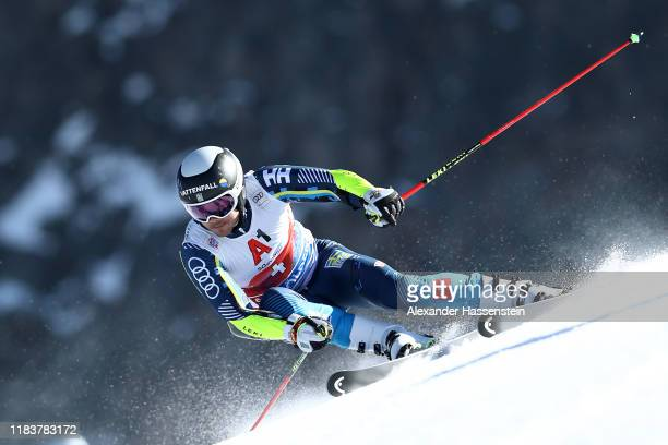 Matts Olsson of Sweden competes during the Audi FIS Alpine Ski World Cup Men's Giant Slalom at Rettenbachferner on October 27, 2019 in Soelden,...