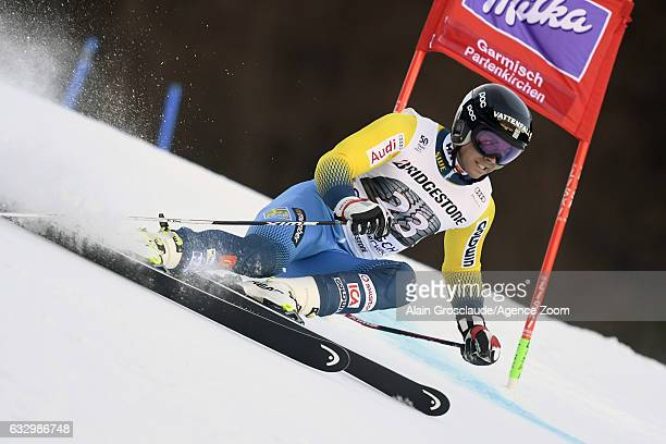 Matts Olsson of Sweden competes during the Audi FIS Alpine Ski World Cup Men's Giant Slalom on January 29 2017 in GarmischPartenkirchen Germany