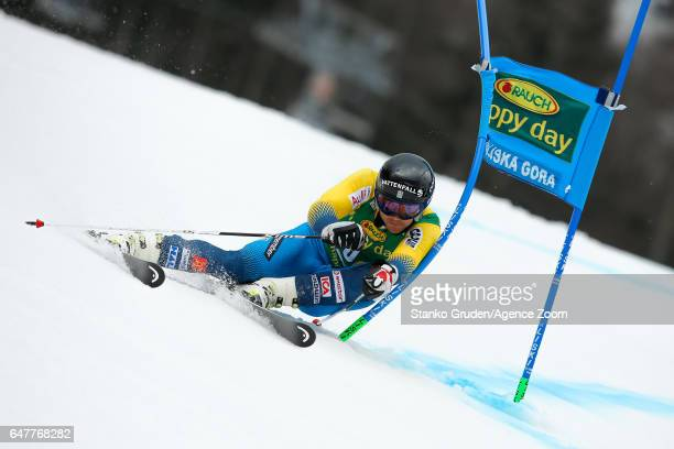 Matts Olsson of Sweden competes during the Audi FIS Alpine Ski World Cup Men's Giant Slalom on March 04 2017 in Kranjska Gora Slovenia