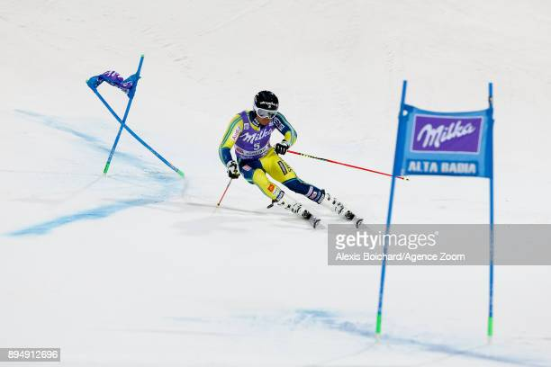 Matts Olsson of Sweden competes during the Audi FIS Alpine Ski World Cup Men's Parallel Giant Slalom on December 18 2017 in Alta Badia Italy