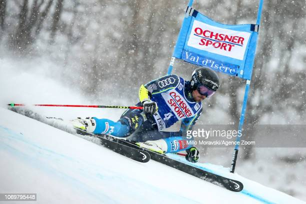 Matts Olsson of Sweden during the Audi FIS Alpine Ski World Cup Men's Giant Slalom on December 8, 2018 in Val d'Isère France.