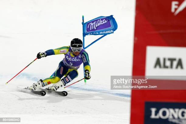 Matts Olsson of Sweden takes 1st place during the Audi FIS Alpine Ski World Cup Men's Parallel Giant Slalom on December 18 2017 in Alta Badia Italy