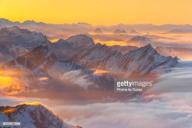 Mattstock and Speer Swiss Alps Switzerland