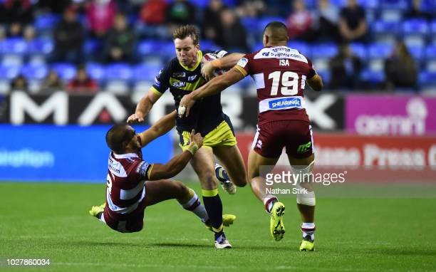 Matty Ashurst of Wakefield Trinity in action during the BetFred Super League match between Wigan Warriors and Wakefield Trinity on September 6 2018...
