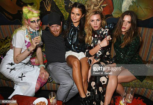Matty Bovan Andrew Davis Bip Ling Abbey Clancy and Elle Clancy attend LOVE Magazine and Marc Jacobs LFW Party to celebrate LOVE 165 collector's issue...