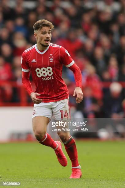 Matty Cash of Nottingham Forest during the Sky Bet Championship match between Nottingham Forest and Derby County at City Ground on March 11 2018 in...