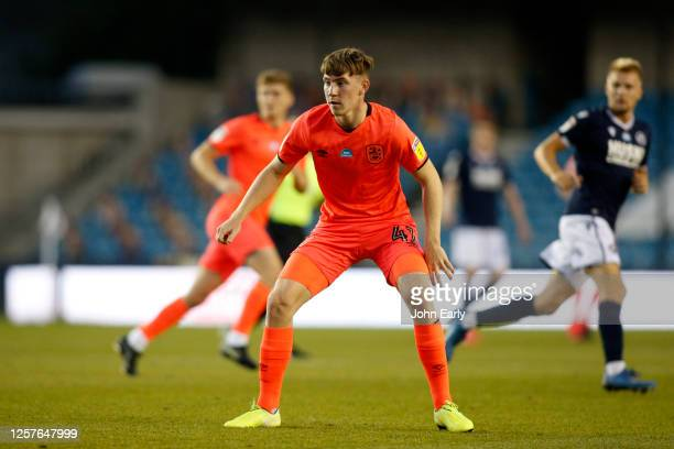 Matty Daly of Huddersfield Town during the Sky Bet Championship match between Millwall and Huddersfield Town at The Den on July 22 2020 in London...
