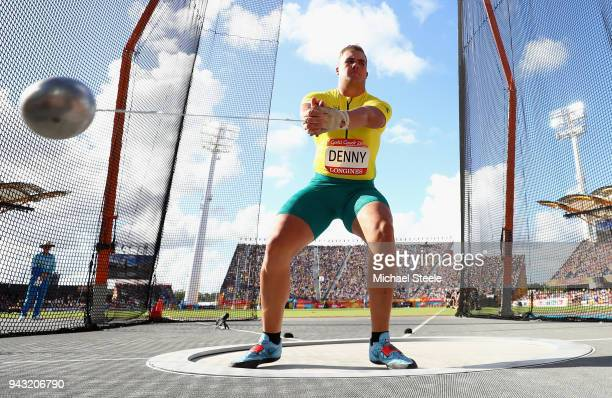 Matty Denny of Australia competes in the Men's Hammer final on day four of the Gold Coast 2018 Commonwealth Games at Carrara Stadium on April 8 2018...