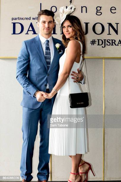 Matty J and Laura attends Caulfield Cup Day at Caulfield Racecourse on October 21 2017 in Melbourne Australia