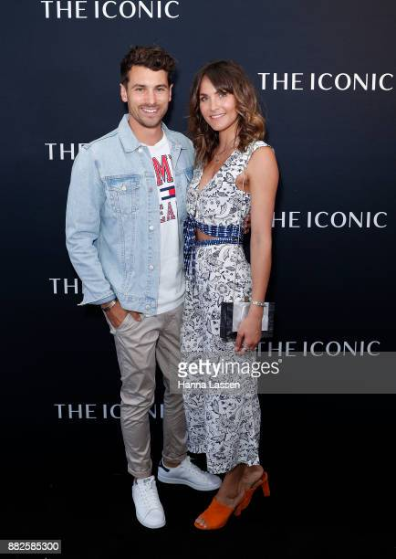 Matty J and Laura Byrne arrive ahead of THE ICONIC Swim Show 2017 on November 30 2017 in Sydney Australia