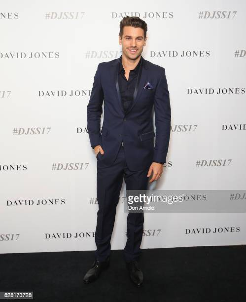 Matty J arrives ahead of the David Jones Spring Summer 2017 Collections Launch at David Jones Elizabeth Street Store on August 9 2017 in Sydney...