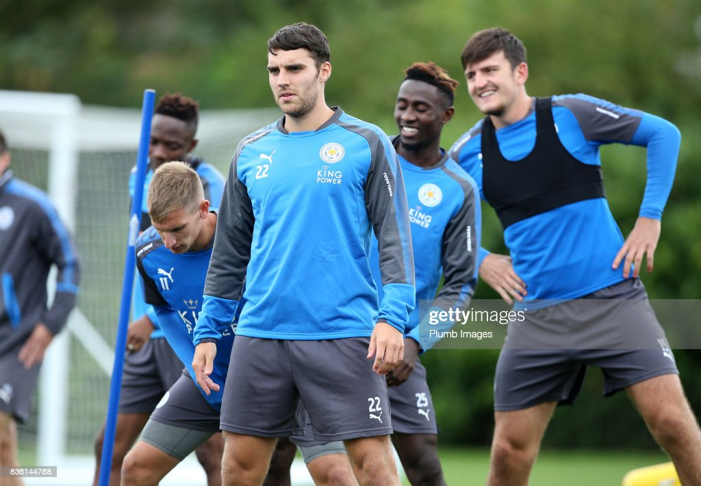Matty James during the Leicester City training session at Belvoir Drive Training Complex on August 21 , 2017 in Leicester, United Kingdom.