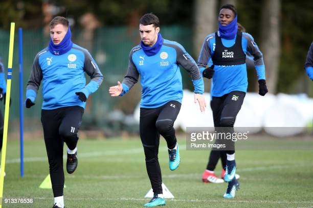 Matty James during the Leicester City training session at Belvoir Drive Training Complex on February 02 2018 in Leicester United Kingdom
