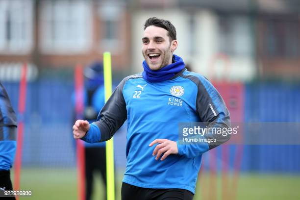 Matty James during the Leicester City training session at Belvoir Drive Training Complex on February 22nd 2018 in Leicester United Kingdom
