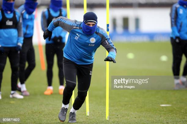 Matty James during the Leicester City training session at Belvoir Drive Training Complex on March 01 2018 in Leicester United Kingdom