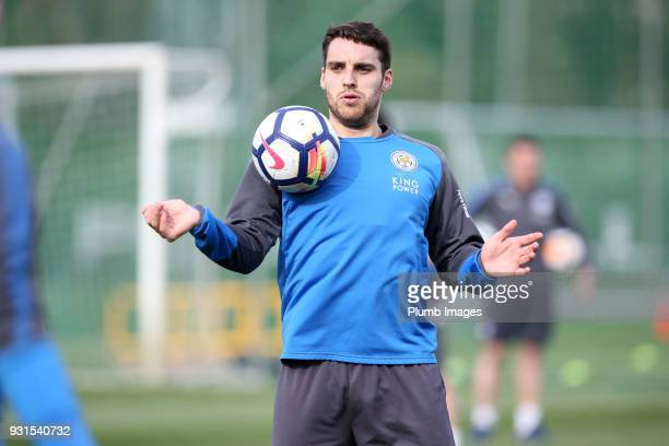 Matty James during the Leicester City training session at the Marbella Soccer Camp Complex on March 13 2018 in Marbella Spain