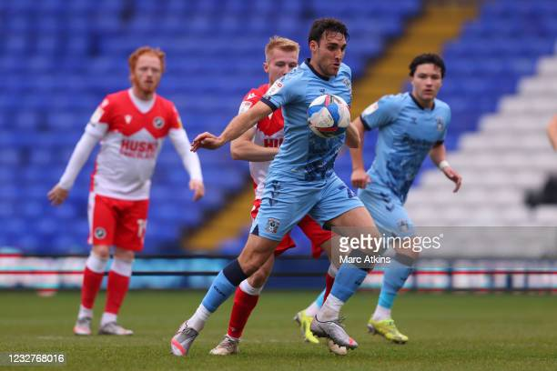 Matty James of Coventry City in action with Billy Mitchell of Millwall during the Sky Bet Championship match between Coventry City and Millwall at St...