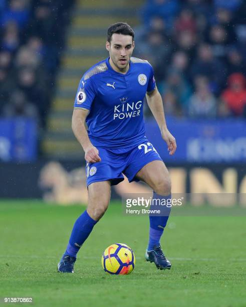Matty James of Leicester City during the Premier League match between Leicester City and Swansea City at The King Power Stadium on February 3 2018 in...