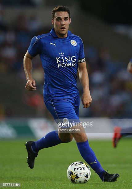 Matty James of Leicester City in action during a preseason friendly between Oxford United and Leicester City at Kassam Stadium on July 19 2016 in...