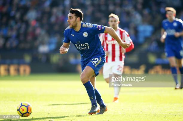 Matty James of Leicester City in action during the Premier League match between Leicester City and Stoke City at King Power Stadium on February 24...