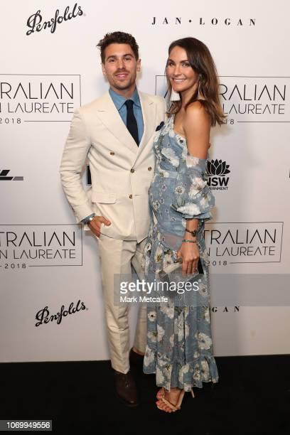 Matty Johnson and Laura Byrne attend the 2018 Australian Fashion Laureate Awards on November 20 2018 in Sydney Australia