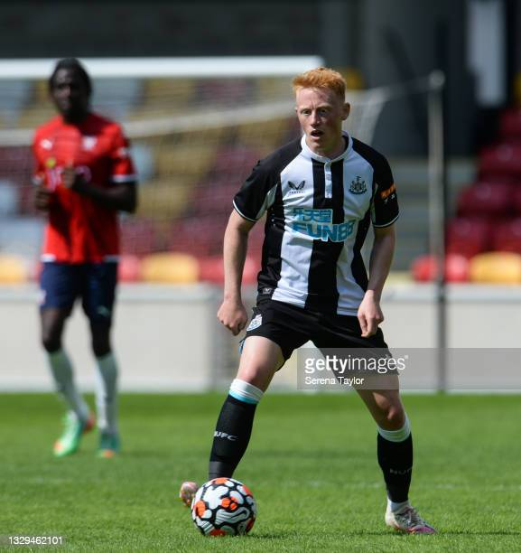 Matty Longstaff of Newcastle United FC controls the ball during the Pre Season Friendly between York City and Newcastle United at the LNER Community...