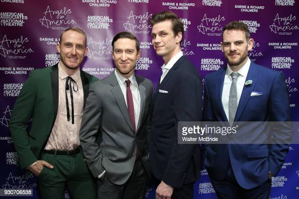 Matty Oaks Ron Todorowski Lee Aaron Rosen and Curt James attend The American Associates of the National Theatre's Gala celebrating Tony Kushner's...