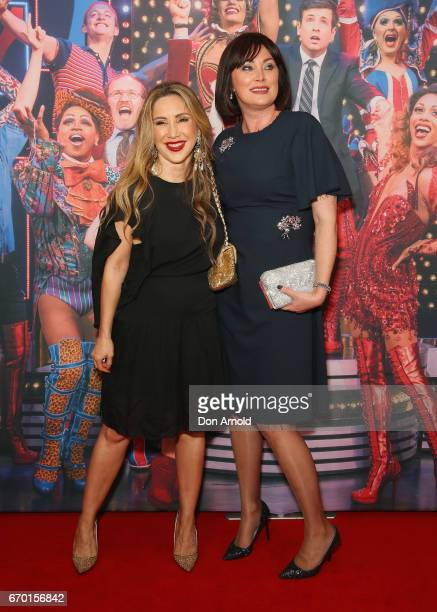 Matty Samaei and Lisa Oldfield arrive for the opening night of Cyndi Lauper's Kinky Boots at Capitol Theatre on April 19 2017 in Sydney Australia