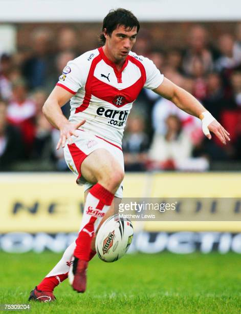 Matty Smith of StHelens in action during the engage Super League match between StHelens and Leeds Rhinos at Knowsley Road on July 6 2007 in StHelens...