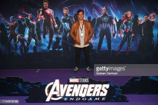 Matty Wilson poses ahead of the special screening of Marvel Studios' Avengers Endgame at IMAX Melbourne Museum on April 23 2019 in Melbourne Australia