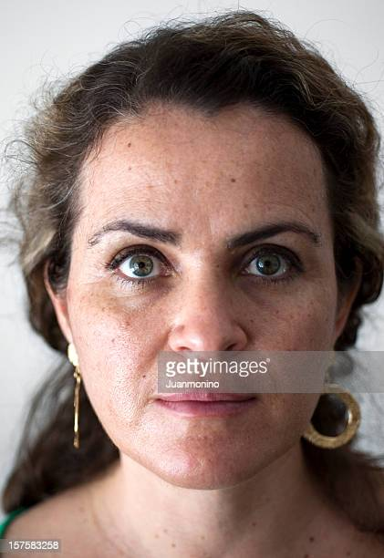mature adult woman - green eyes stock pictures, royalty-free photos & images