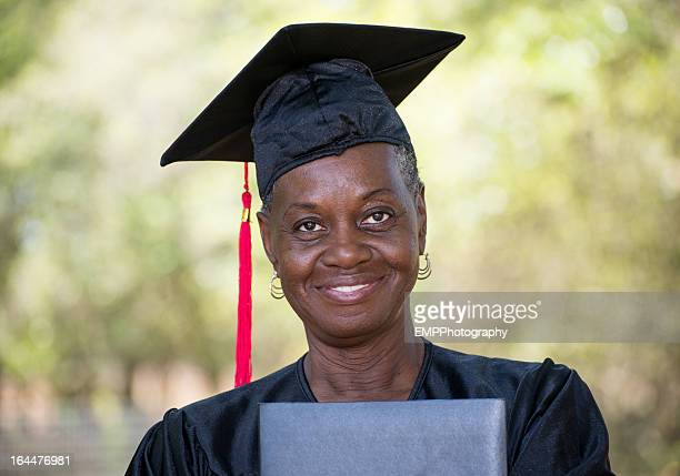 Mature African American Graduate