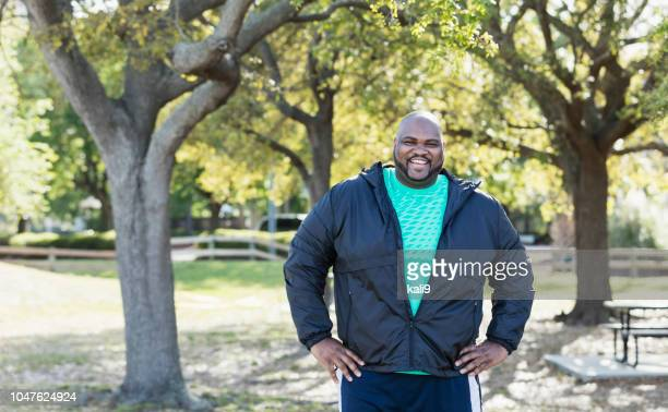 mature african-american man - heavy stock pictures, royalty-free photos & images