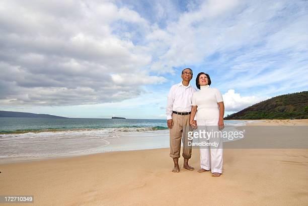 Mature Asian Couple Outdoors