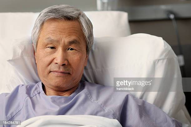 Mature asian man in the hospital