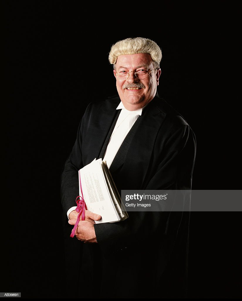 Mature Barrister In Wig And Gown Portrait Stock Photo | Getty Images