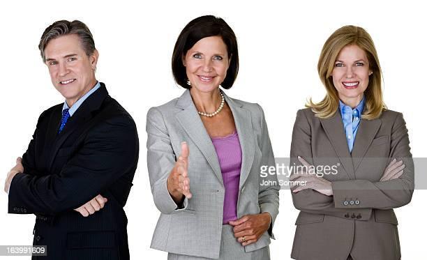 Mature business team