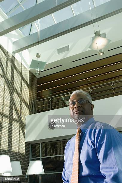 Mature businessman in office building