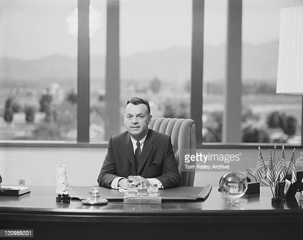 Reifer Geschäftsmann im Büro, Lächeln, Porträt