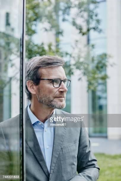Mature businessman outdoors