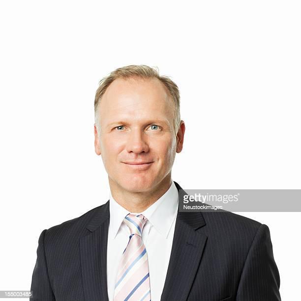 Reifer Geschäftsmann Porträt-isoliert