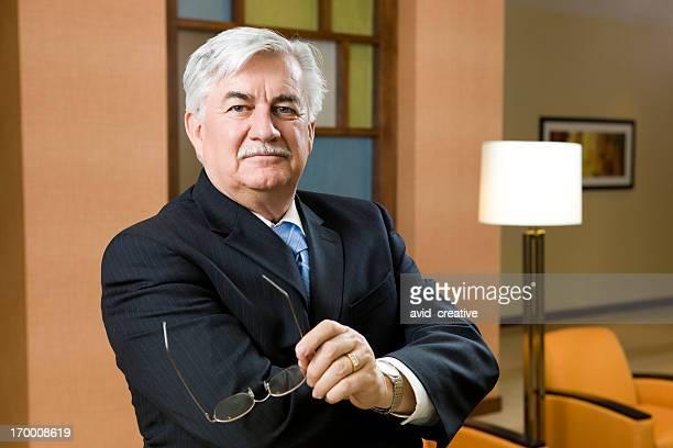 Reifer Geschäftsmann Porträt
