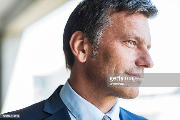 Mature businessman smiling confidently, portrait