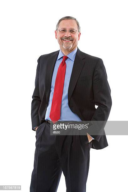 mature businessman wearing suit