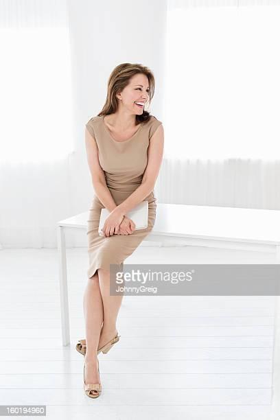 Mature Businesswoman Laughing