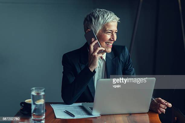 Mature Businesswoman On The Phone.