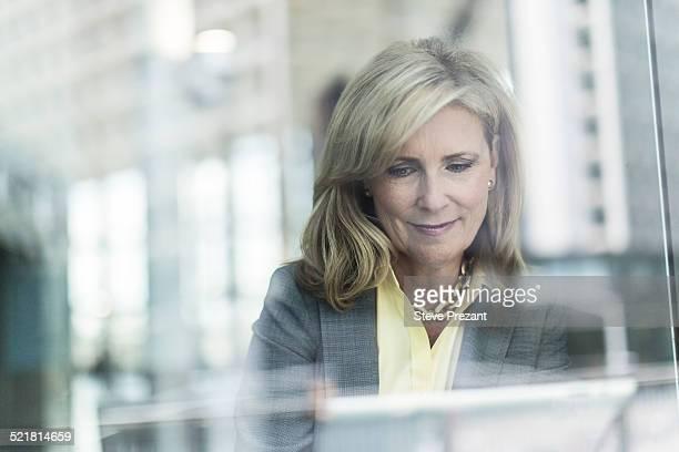 Mature businesswoman with blonde hair, portrait