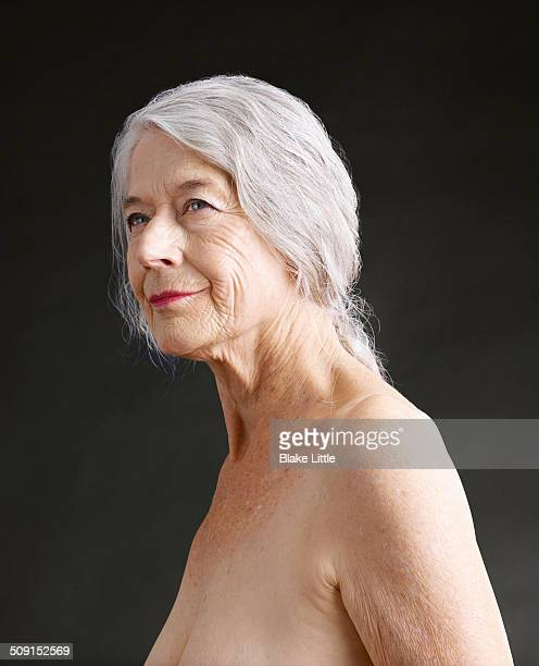 Mature Caucasian Female Closeup Studio